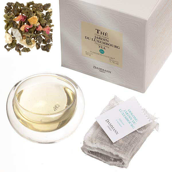 """'Jardin du Luxembourg' Oolong """"couture"""" teabags by Dammann Frères"""