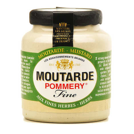 Les assaisonnements Briards - Mustard with Fine Herbs - Pommery