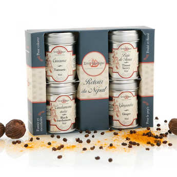 Terre Exotique - Spices gift box - Back from nepal