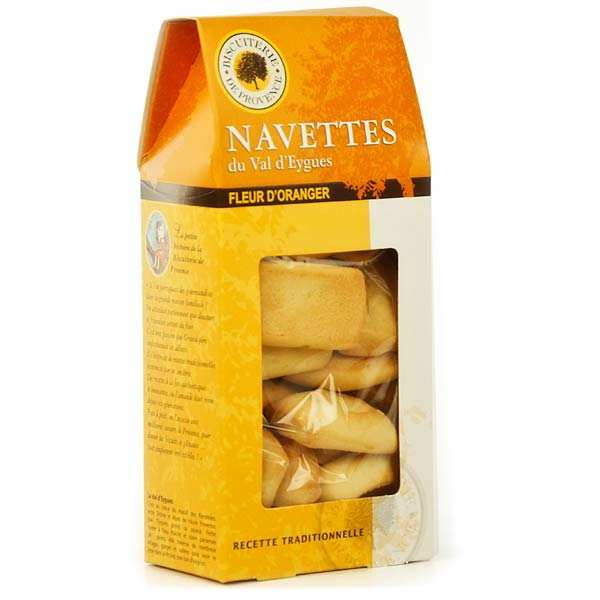 """Orange blossom """"Navette"""" biscuits from the Val d'Eygues"""