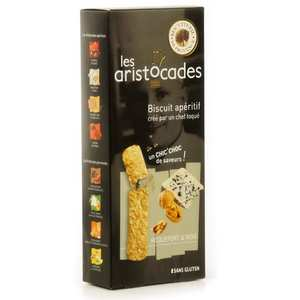 Biscuiterie de Provence - Biscuit apéritif roquefort et noix - sans gluten – Les Aristocades
