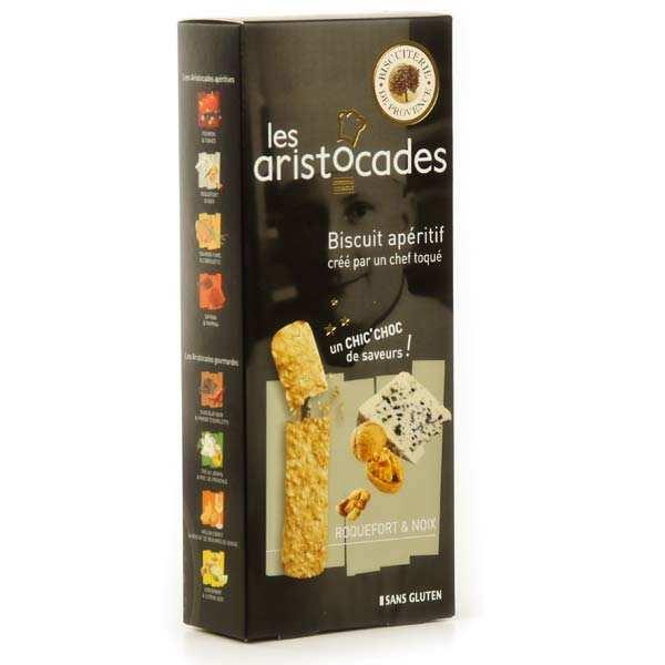 Biscuit apéritif roquefort et noix - sans gluten – Les Aristocades