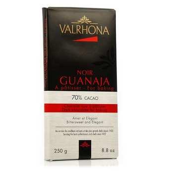 Valrhona - Tablette de chocolat noir pâtissier Guanaja 70% cacao - Valrhona