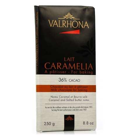 Valrhona - Tablette de chocolat au lait pâtissier Caramélia 36% cacao - Valrhona