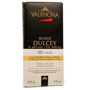 Valrhona - Tablette de chocolat blond Dulcey biscuité 32% cacao - Valrhona