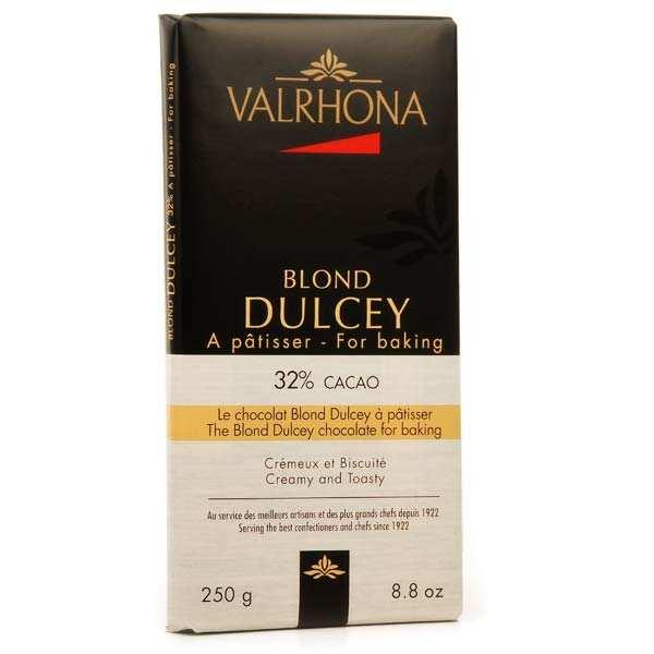 Tablette de chocolat blond Dulcey biscuité 32% cacao - Valrhona