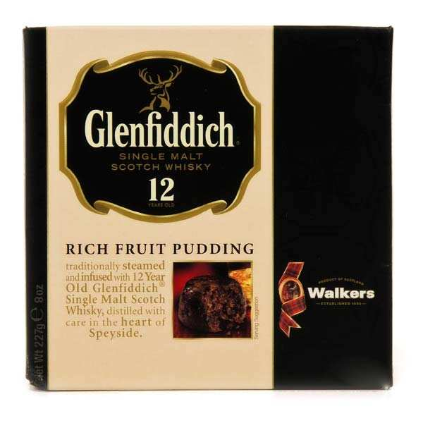 Christmas Pudding aux fruits secs et whisky Glenfiddich Walkers