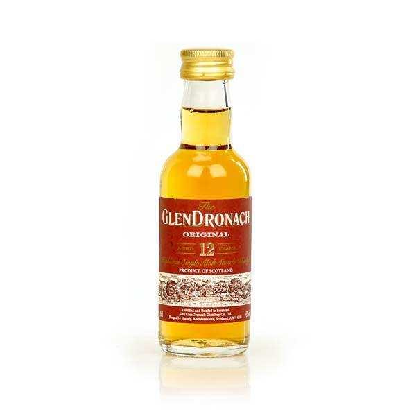 Whisky  12 ans original- mignonnette - 43% - bouteille 5cl
