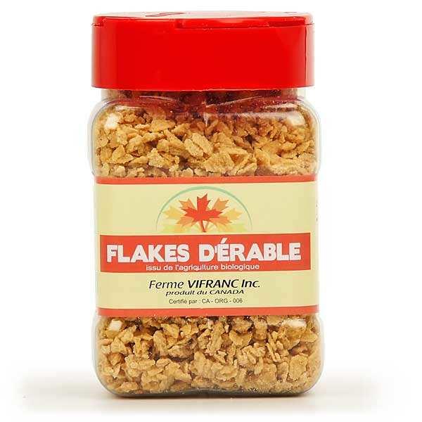 Sucre d'érable bio en flocons (flakes)