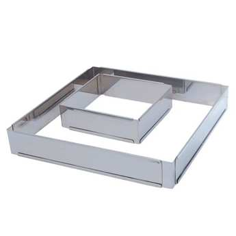 de Buyer - Extendable Square Stainless Steel Cake Mould