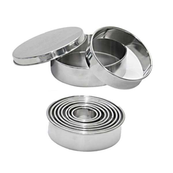 Box of 9 Stainless Steel Cutters