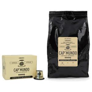 Cap'Mundo - Ebène coffee - Nespresso® compatible capsules - Strength 5/5