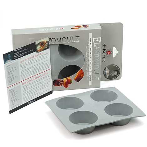 de Buyer - Mini Muffins Mould – Elastomoule - For 4 Muffins