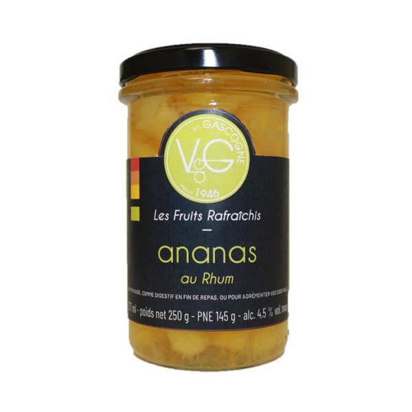 Mini ananas rafraîchis au rhum - bocal 210ml
