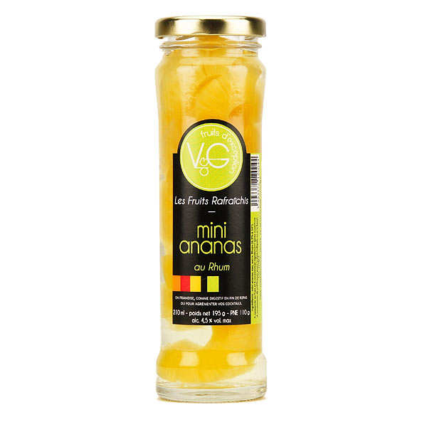 Mini Queen Victoria Pineapples, coconuts in Rum Syrup - 210ml