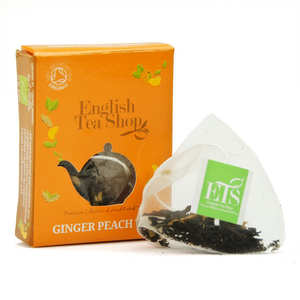 English Tea Shop - Thé noir pêche gingembre bio - sachet individuel