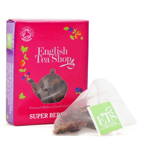 English Tea Shop - Organic Super Berries Herbal Tea - individual sachet