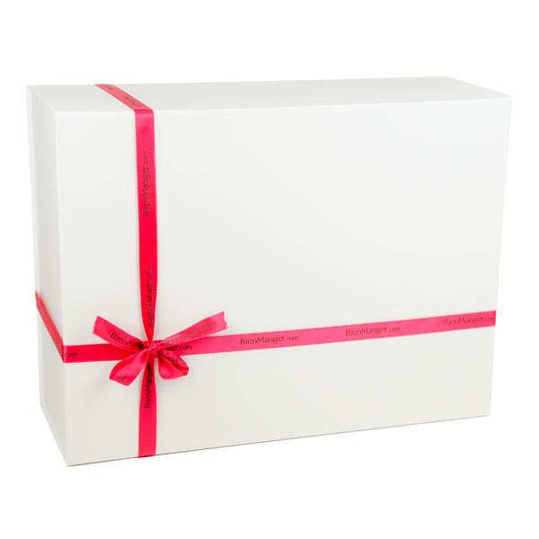 grande boite cadeau rectangle aimant e blanche. Black Bedroom Furniture Sets. Home Design Ideas