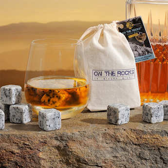 On The Rocks - Pierres à whisky en granit clair du Sidobre
