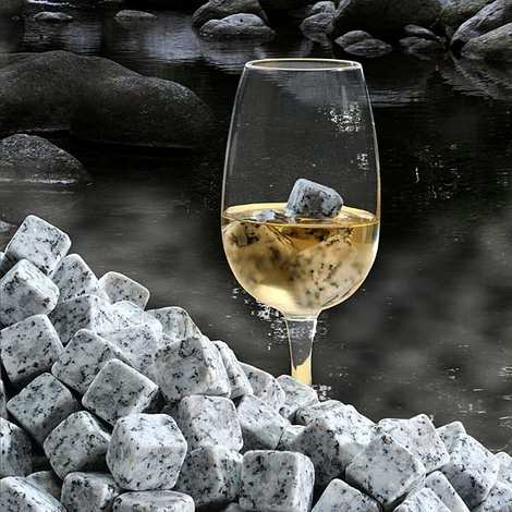 On The Rocks - Granite Ice Cubes from Sidobre
