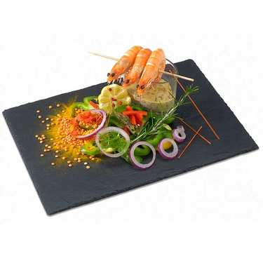 Anti-Stain Slate Plate - 32 x 22cm
