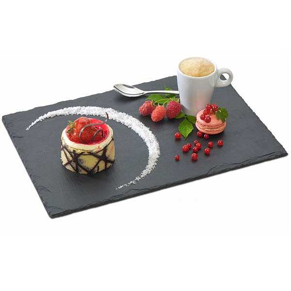 assiette ardoise de qualit professionnelle 32x22 on the. Black Bedroom Furniture Sets. Home Design Ideas