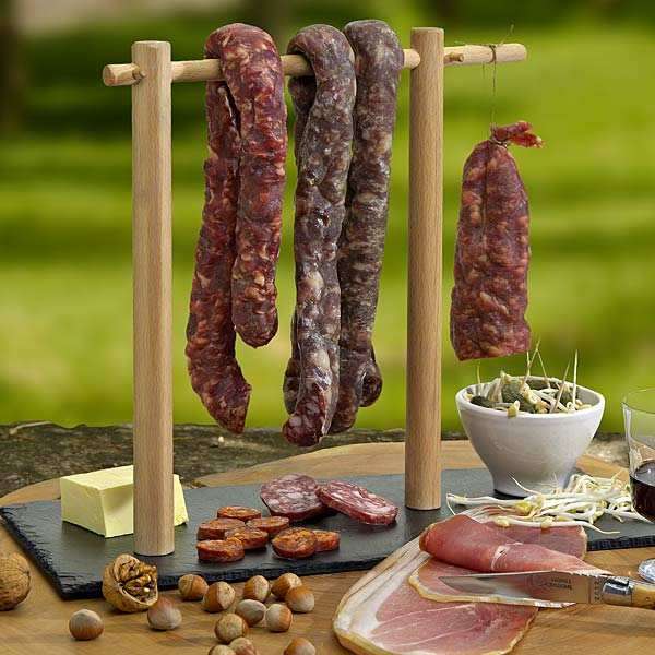 Charcuterie Presentation Plate & Rack - Anti-Stain Slate