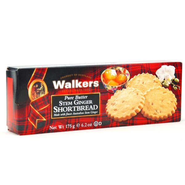 Shortbread Walkers - Pur beurre au gingembre confit