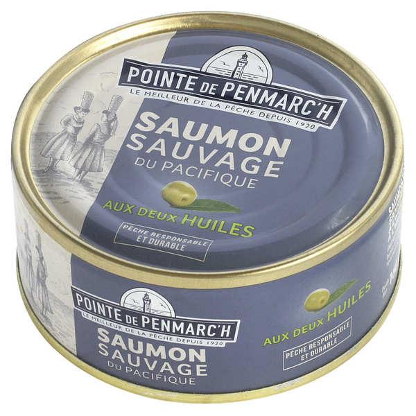 Saumon sauvage cuisiné à l'huile d'olive