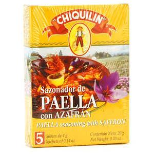Chiquilin - Mélange d'épices pour Paella avec Safran