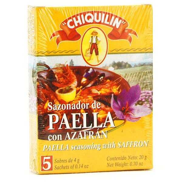 Mélange d'épices pour Paella avec Safran