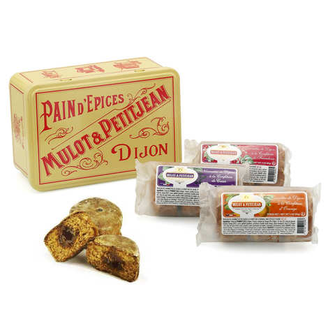 Mulot et Petitjean - Nonnette Cakes - Orange, blackcurrant, apricot - tin collector box