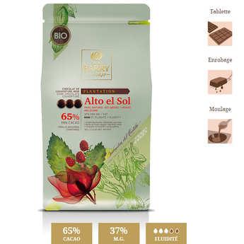 Cacao Barry - Chocolat de couverture bio Alto el Sol - 65% - en pistoles