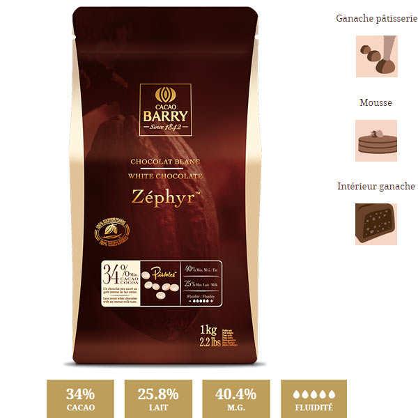 Chocolat blanc 34% Zéphyr