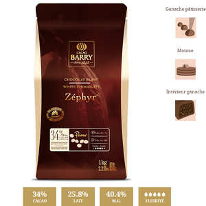 Cacao Barry - White chocolate Zéphir - 34%