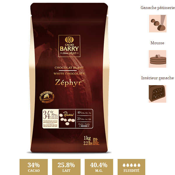 White chocolate Zéphir - 34%