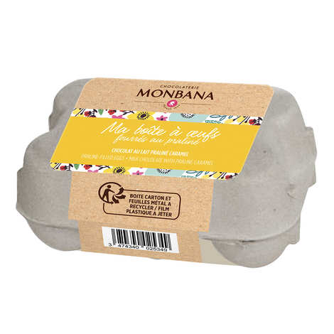 Monbana Chocolatier - Egg Box - 6 Mini Praliné Eggs