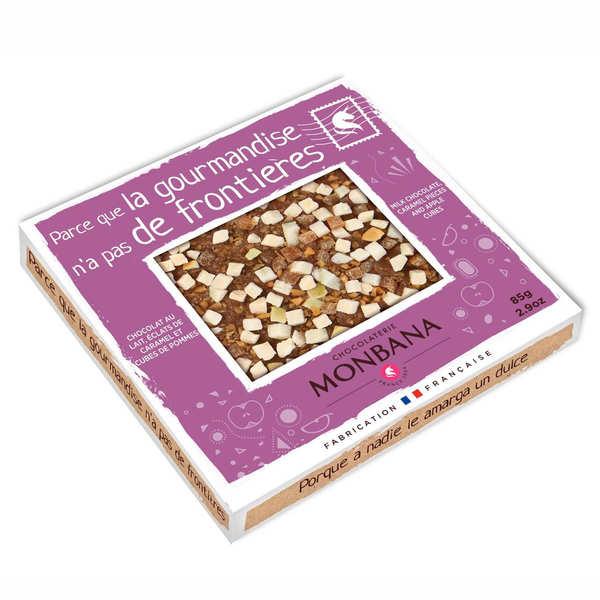 Tablette chocolat au lait, pomme et caramel au beurre salé - La Bretonne
