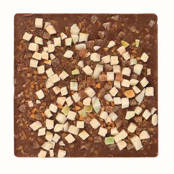Monbana Chocolatier - Tablette chocolat au lait, pomme et caramel au beurre salé - La Bretonne