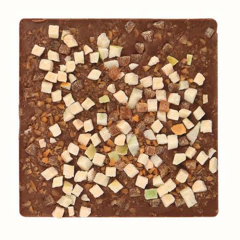 Monbana Chocolatier - Tablette chocolat au lait, pomme et caramel au beurre salé