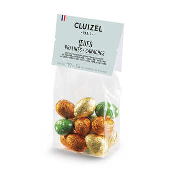 Michel Cluizel - Sachet de petits oeufs de Pâques fourrés praliné
