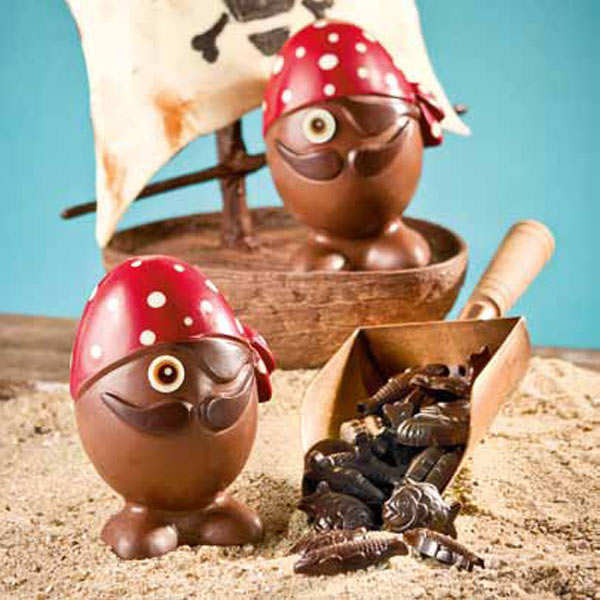 Grand oeuf pirate - chocolat au lait