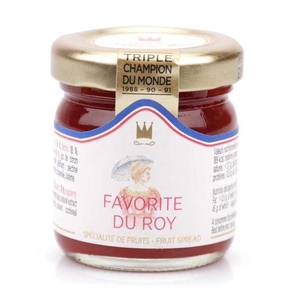 Confiture Favorite du Roy (pêche, abricot, framboise) - Francis Miot