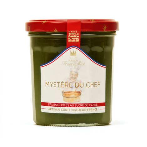 Maison Francis Miot - Confiture Mystère du chef (pêche, abricot, mangue, passion) F. Miot