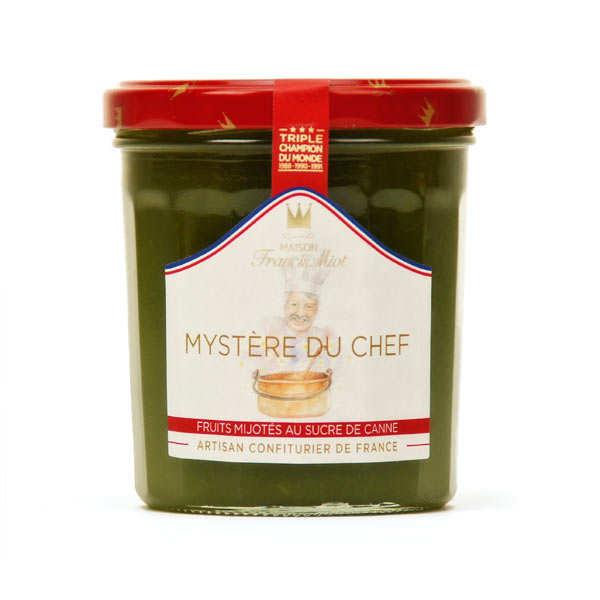 Confiture Mystère du chef (pêche, abricot, mangue, passion) F. Miot