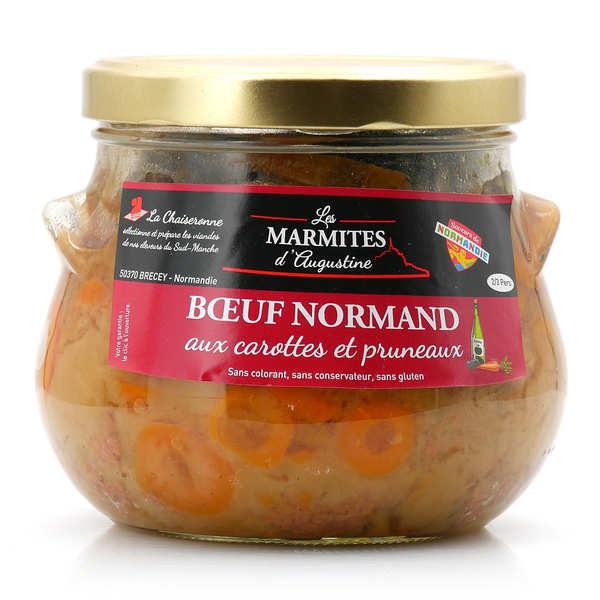 Boeuf normand aux carottes et pruneaux