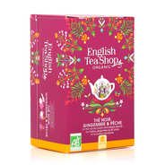 English Tea Shop - Thé noir pêche gingembre bio - sachet mousseline