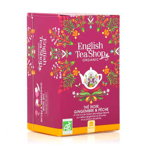 English Tea Shop - Organic Ginger Peach Tea - muslin sachet