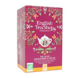English Tea Shop - Thé noir pêche gingembre bio - sachet mousseline