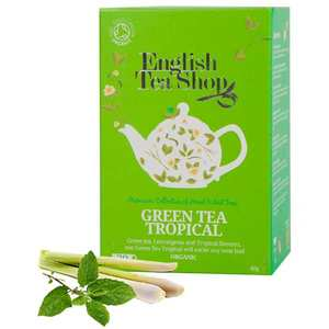 English Tea Shop - Thé vert punch tropical bio - sachet mousseline